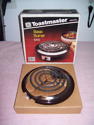 Toastmaster 750 Watt Buffet Party Single Adjustable Electric Burner NEVER USED!