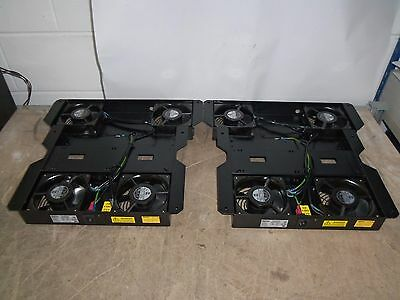 2 x APW 294-599707 Server Rack Mount Cooling Fan Trays - 4 Low Noise Fans !!