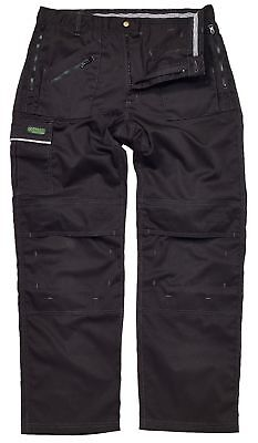 Apache GRINDSTONE black multi zip action trouser all sizes