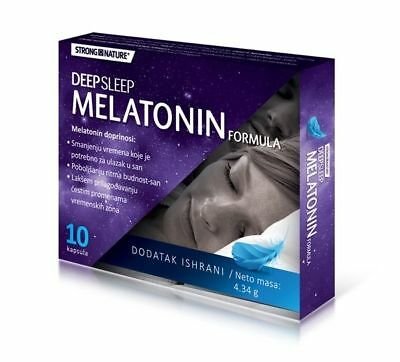 Strong Nature Deep Sleep Melatonin Formula regulation of insomnia 10 capsules