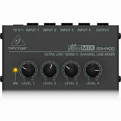 Behringer MX400 MicroMix Ultra Low Noise 4 Channel Line Mixer