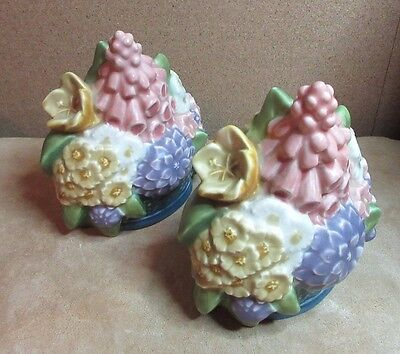 ROOKWOOD BASKET of FLOWERS(2)pair 2837 BOOKENDS 1925 Shirayamadi