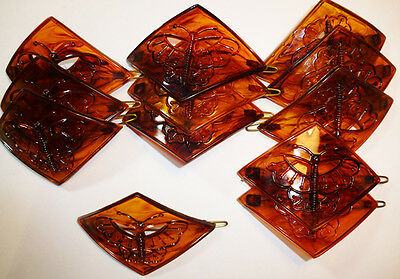 Wholesale Package 12 Tortoiseshell 1960s Butterfly Hair Grips