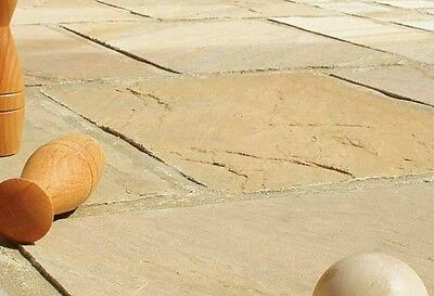 Golden Brown Indian Sandstone Paving 22mm Calibrated Patio Pack (20m2 Pack)