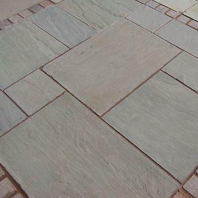 Autumn Brown Indian Sandstone Paving 22mm Calibrated Patio Pack (20m2 Pack)