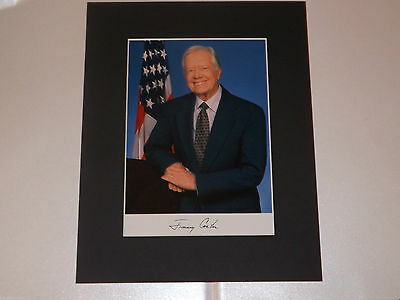 JIMMY CARTER, MOUNTED, SIGNED AUTOGRAPHED PRINT (pp), MINT,