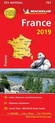 France 2018 National Map 721 by Michelin - Folded Sheet Map
