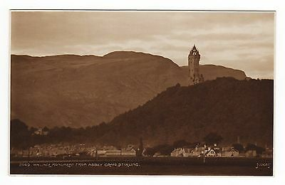 VINTAGE POSTCARD Wallace Monument from Stirling Castle, Scotland 1950s