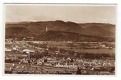 VINTAGE POSTCARD Wallace Monument from Stirling Castle, Scotland