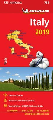 Italy 2018 National Map 735 by Michelin - Folded Sheet Map