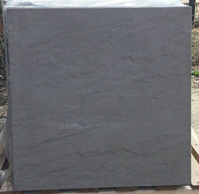 25 CHARCOAL CONCRETE RIVEN PAVING SLABS 600x600 DELIVERY INCLUDED