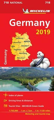 Germany 2019 National Map 718 by Michelin - Folded Sheet Road Map