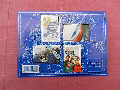 Planche timbres neufs 2008 grands projets européens-euro-galileo-frasmus-pfue