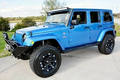 2015 Jeep Wrangler X Edition Sport Utility 4-Door 2015 Jeep Wrangler Unlimited Sahara Hydro Blue Off-Road Ready Only 18K Miles!