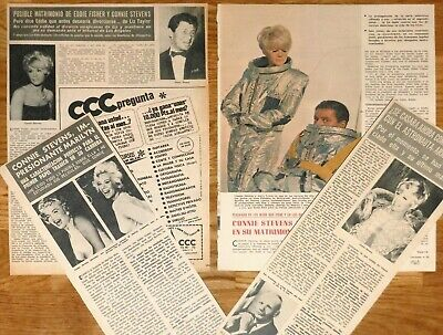 CONNIE STEVENS 1960s/70s spanish clippings photos vintage magazine articles