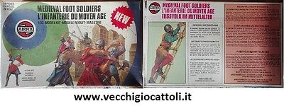 Soldatini Airfix 51474-5 medievali a piedi 1/32 1978 Medieval Foot Soldiers