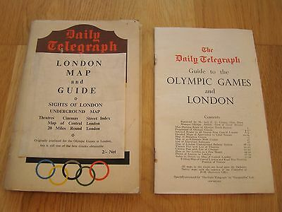 1948 Olympic Games London - Original Map & Guide - Daily Telegraph publications