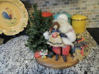 LARGE Nans Dolls  Santa Claus Corn Husk Cornhusk w/ Little Girl ~Toy Sack~TREE