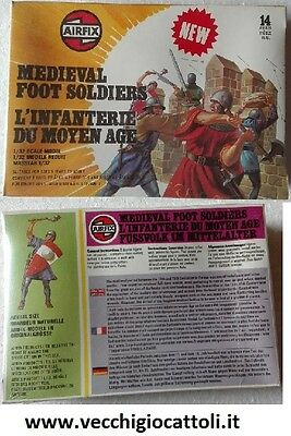 Soldatini Airfix 51574-4 medievali a piedi 1/32 1978 Medieval Foot Soldiers