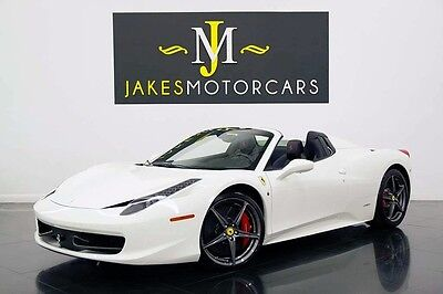 2012 Ferrari 458 Spider ($321K MSRP) 2012 FERRARI 458 SPIDER, $321K MSRP! WHITE ON BLACK, ONLY 3400 MILES, LOADED!