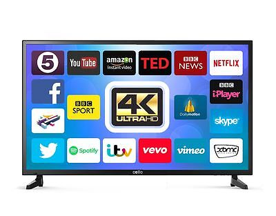 "GOODMANS 40"" SMART 4K UHD LED TV Wi-Fi ANDROID APP's FREEVIEW HD USB HDMI"