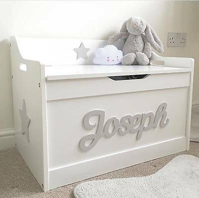 Girls/boys Wooden Personalised Children's Toy Box/Storage Box/chest Nursery