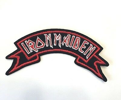 Iron Maiden Logo Ribbon Embroidered Patch Iron on or Sew on