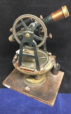Antique Engineer Surveyor Surveying Compass Transit Level A.S. Aloe Co. St Louis