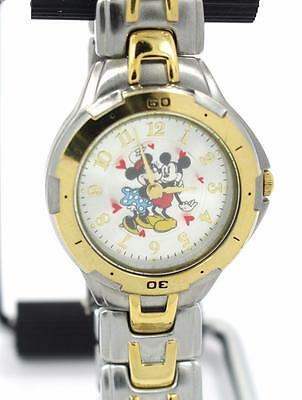 Official Disney Minnie & Mickey Mouse Floating Hearts Love Watch - New Battery