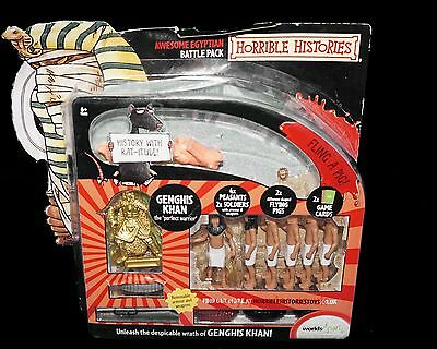 Horrible Histories Awesome Egyptian Battle Pack Genghis Khan Soldiers BNIB
