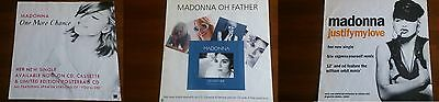 Madonna Lot Of 3 Promo Poster Justify My Love, Oh Father, One More Chance