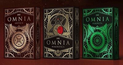 3 Deck set of Omnia: Golden Age Playing Cards inc. RARE Magnifica  deck
