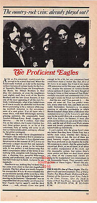 "1975 The Eagles ""One Of These Nights"" Record Album Review Article"