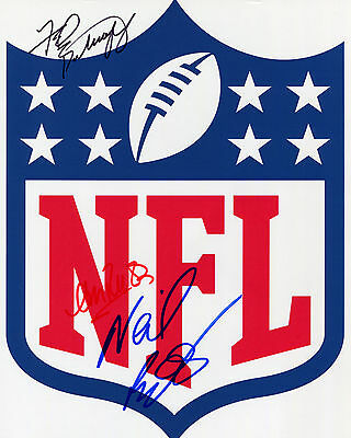 Andre Reed, Fred Biletnikoff & Neil Reynolds - NFL - Signed Autograph REPRINT