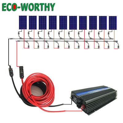 1KW 200W 500W 100W 12V Solar Panel System with Controller or Inverter for Home