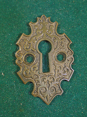 Beautiful Eastlake Cast Brass Key Hole Surround  Escutcheon  Rosette  (6030)