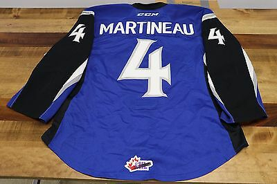 #4 Vincent Martineau Blue Game Worn Jersey | 2015-16 | SJ Sea Dogs | QMJHL