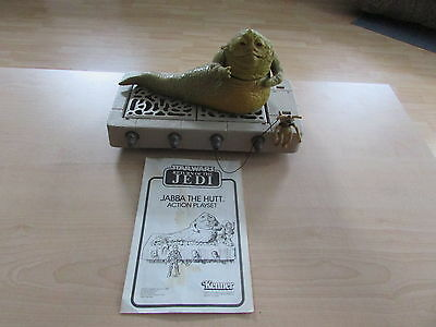Vintage 1983 Star Wars Rotj Jabba The Hutt Action Playset With Instructions