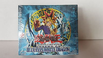 Yu-Gi-Oh  LEGEND OF BLUE EYES WHITE DRAGON USA 1st Edition Sealed Booster Box