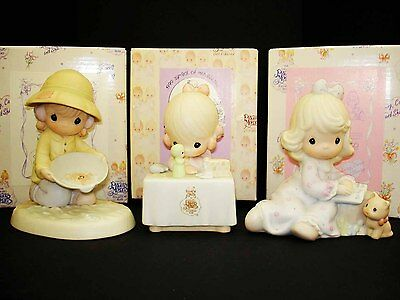3 Precious Moments Members Only Figurine Lot: Fill The Pages One In A Million +