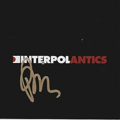 Paul Banks signed Interpol Antics cd