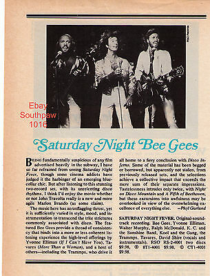 """The Bee Gees """"Saturday Night Fever"""" Soundtrack Record Album Review Photo Article"""
