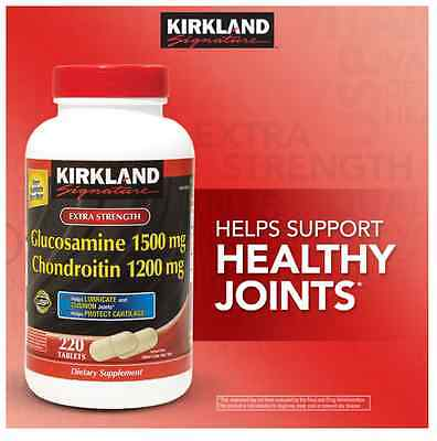 Kirkland Glucosamine 1500 mg Chondroitin Sulfate 1200 mg 220 Tablets joint care