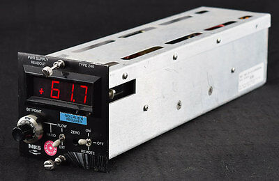 MKS Type 246 Single-Channel Gas Flow Power Supply Readout Display +/-15VDC