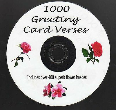 1000 Greeting Card Verses on CD Plus over 400 stunning flower pictures