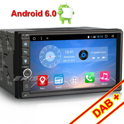 "7"" Android 6.0.1 Double 2 Din DAB+Car Stereo Bluetooth GPS Sat Nav WiFi OBD DVR"
