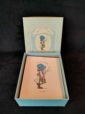 """8 Vintage Holly Hobbie American Greetings Note Cards """"The Time to be Happy"""""""