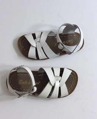 Saltwater Girls Sandals Patent Leather Size 8 White