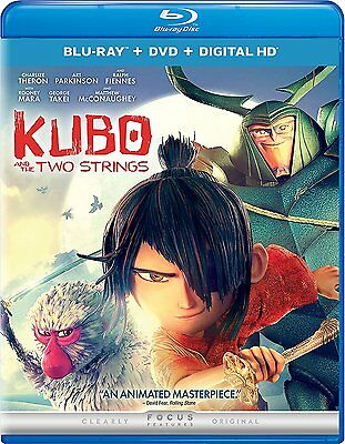 Kubo and the Two Strings (Blu-ray + DVD + Digital HD) (2016) NEW