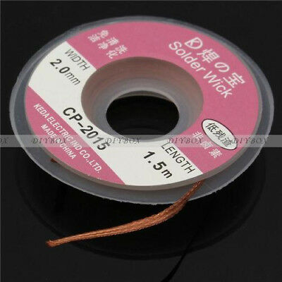 5Feet /1.5M 2mm Desoldering Braid Solder Remover Wick Cable Repair Tool  CP-2015